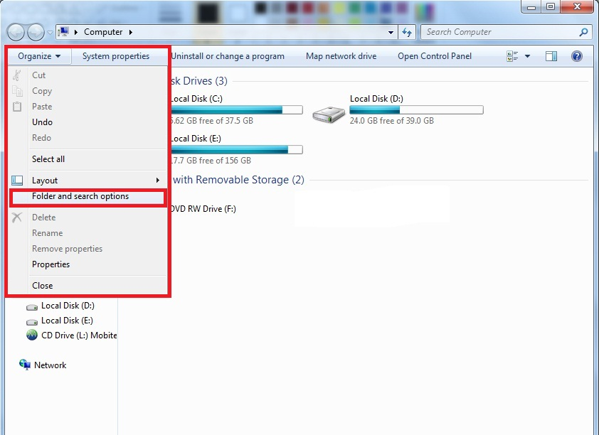 How to see hidden files and folders