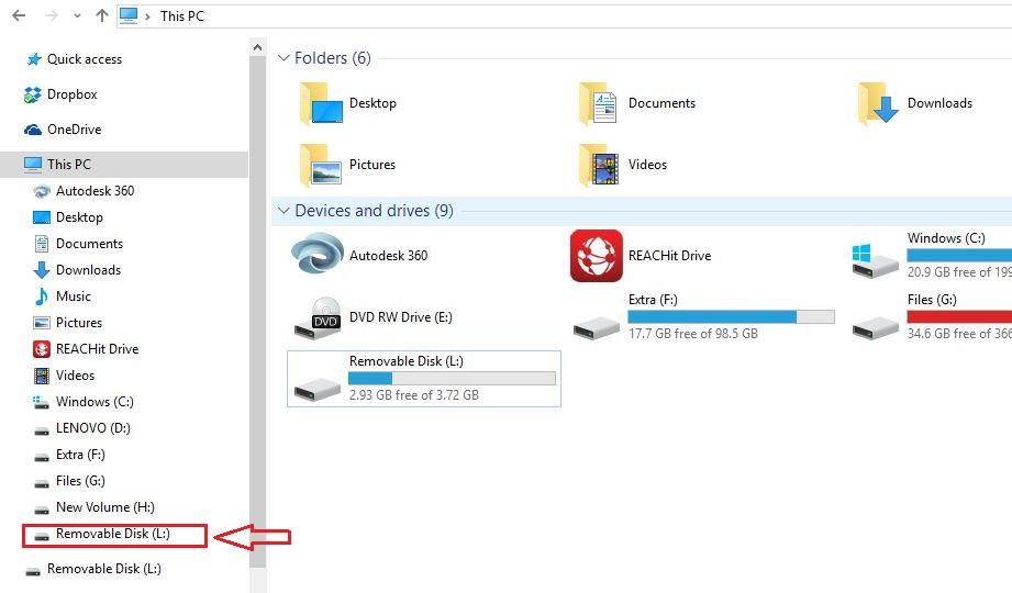 windows file explorer open pen