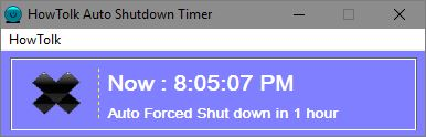 HowTolk Auto Shutdown Timer set task